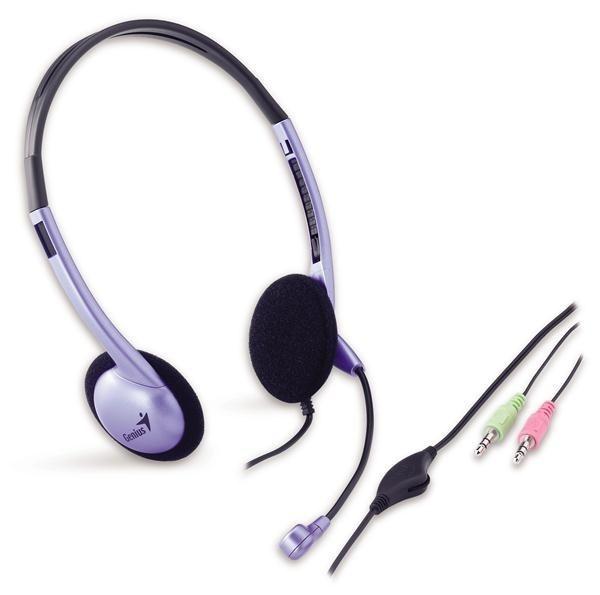 GENIUS sluchátka s mikrofonem HS-02B, 3.5mm jack
