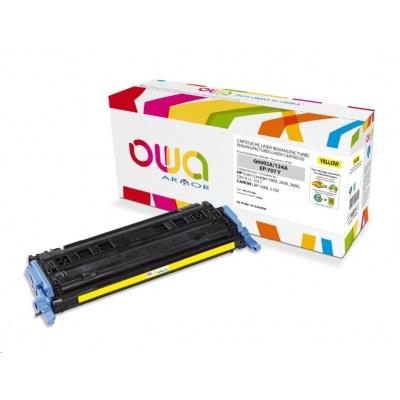 OWA Armor toner pro HP Color Laserjet 1600, 2600, 2605, 2000 Stran, Q6002A, žlutá/yellow