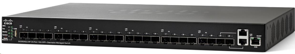 Cisco switch SG350XG-24F, 22x10G SFP+ + 2x10G/SFP+ sdílené, Web, SNMP, VLAN, REFRESH