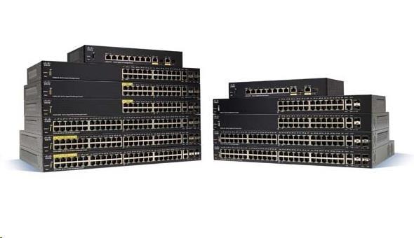 Cisco switch SF250-48, 48x10/100, 2xGbE SFP/RJ-45, 2xSFP