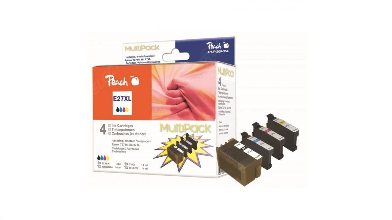 PEACH atrament Epson WF-3620, Multi pack, bk, XXL, c.m.y PI200-354