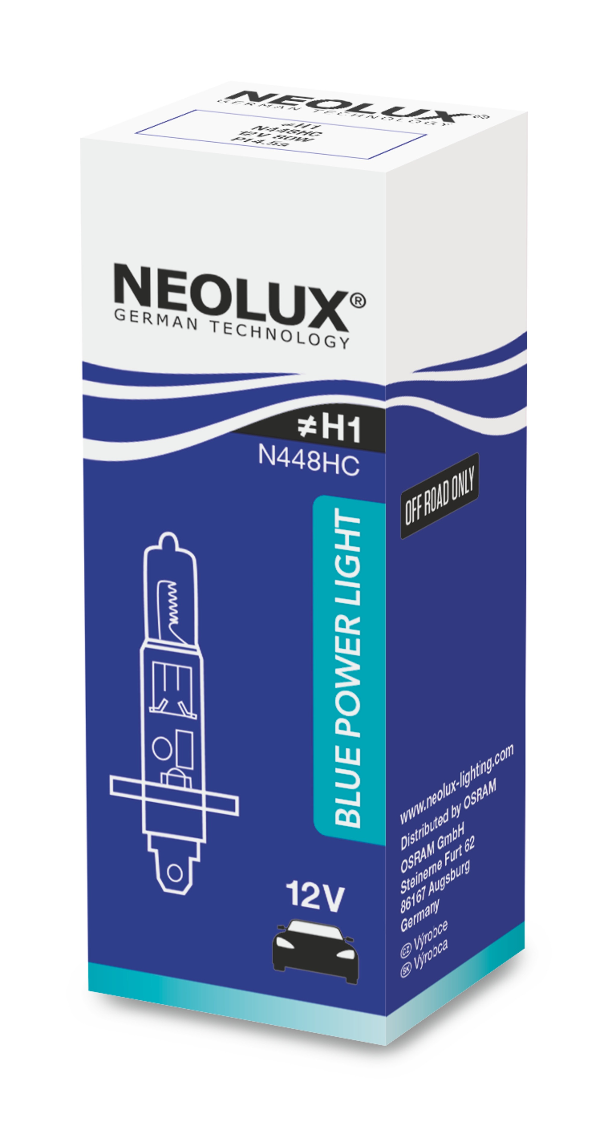 "NEOLUX autožárovka ""H1"" BLUE POWER LIGHT 12V 80W P14.5s (Krabička 1ks)"