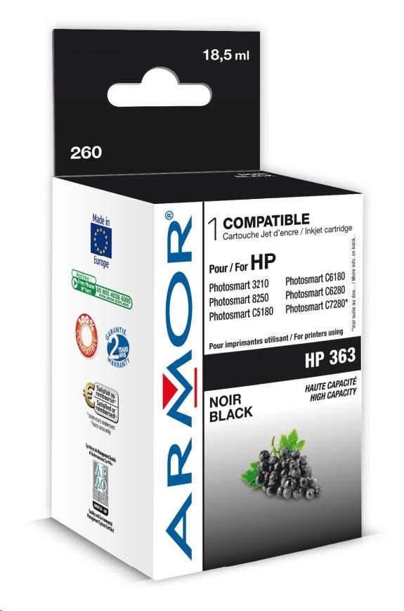 ARMOR cartridge pro HP Photosmart 8250, PSC3210, C5180 HC Black (C8719E)