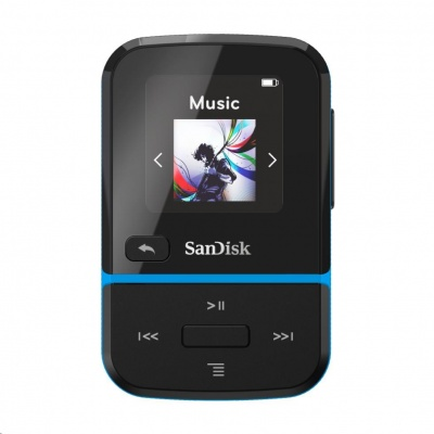 SanDisk Clip Sport Go MP3 Player 16 GB, Blue