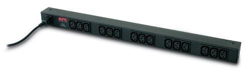 APC Rack PDU, Basic, ZeroU, 10A, 230V, (15)C13, IEC-320 C14 1.9m