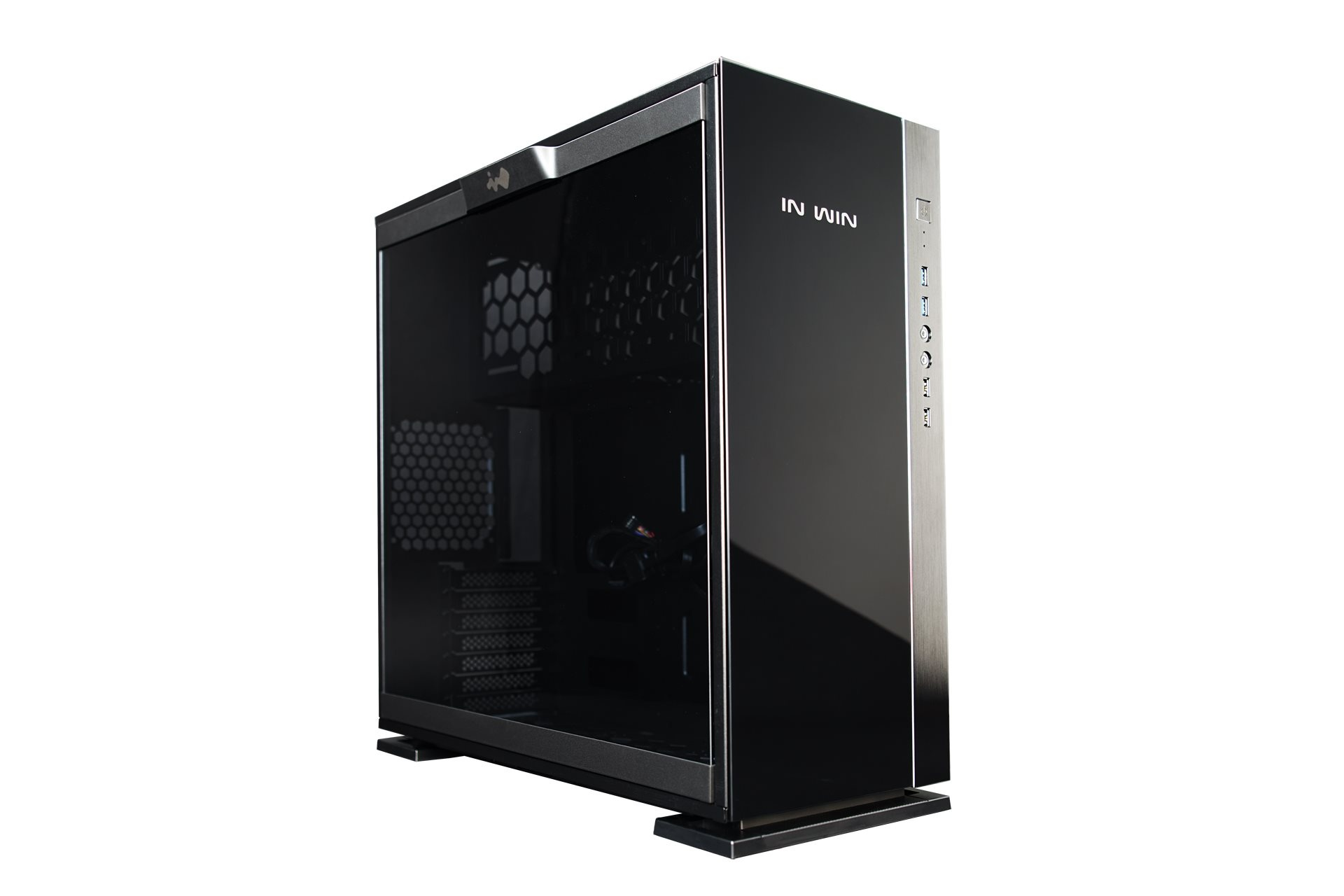 IN WIN skříň 305, Black, Mid Tower, bez zdroje, USB 3.0