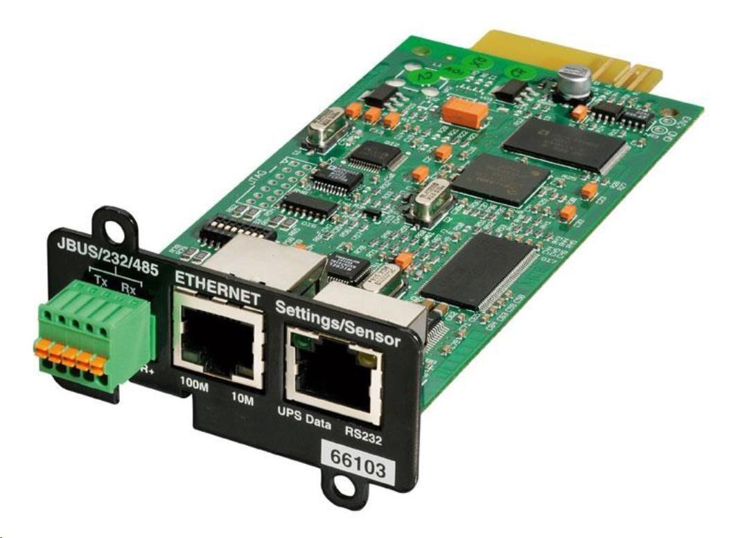 Eaton MODBUS-MS Komunikační karta MS Web/SNMP a ModBus (pro 5P, 5PX, 5130, EX, 9130, 9PX, 9SX, 93PM, 93E)