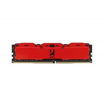 DIMM DDR4 16GB 3000MHz CL16 SR (Kit 2x8GB) GOODRAM IRDM, red