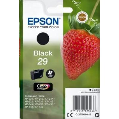 "EPSON ink čer Singlepack ""Jahoda"" Black 29 Claria Home Ink"