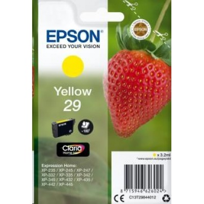 "EPSON ink bar Singlepack ""Jahoda"" Yellow 29 Claria Home Ink"