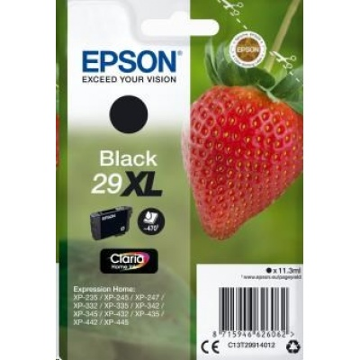 "EPSON ink čer Singlepack ""Jahoda"" Black 29XL Claria Home Ink"
