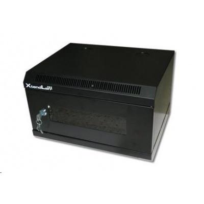 """XtendLan 10"""" jednodílný nástěnný rozvaděč 4U, šířka 350mm, hloubka 280mm, černý"""