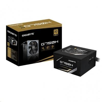 GIGABYTE zdroj G750H, 750W, 80plus gold, 14 cm fan
