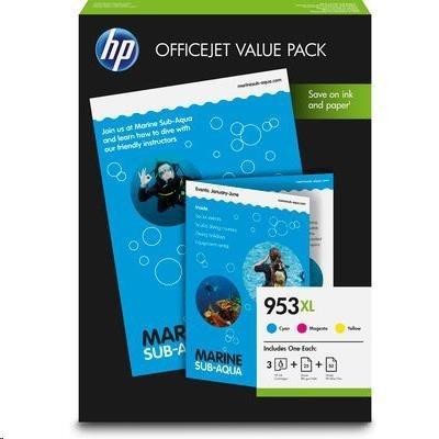 HP 953XL CMY Ink Cartridge OVP Pack, 1CC21AE