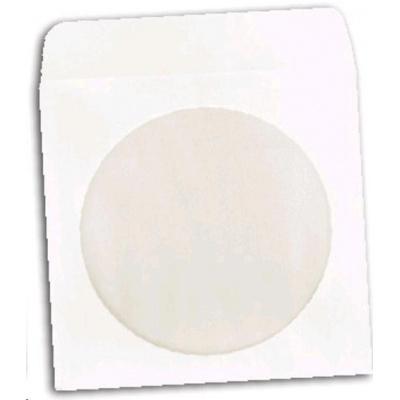 OEM Obálka na CD papírová se zalepovacím klipem  (balení 100ks)