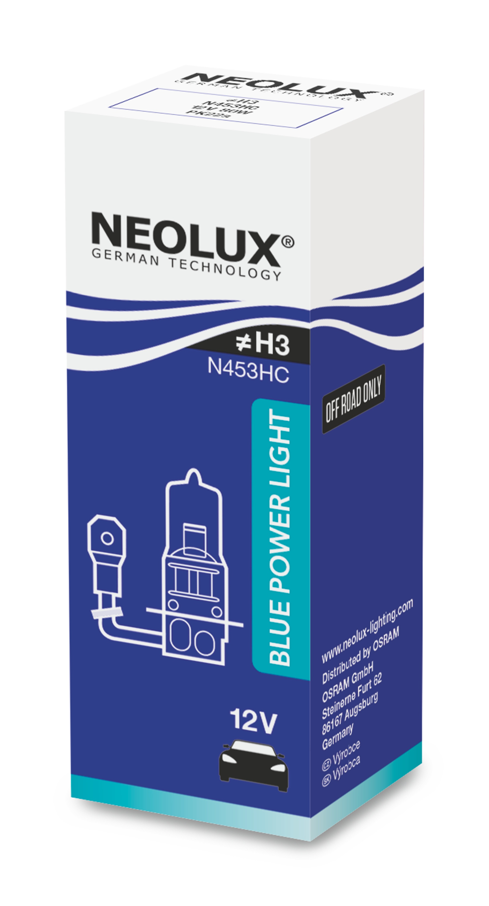 "NEOLUX autožárovka ""H3"" BLUE POWER LIGHT 12V 80W PK22s (Krabička 1ks)"