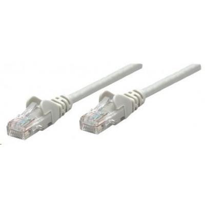 Intellinet patch kabel, Cat6 Certified, CU, UTP, PVC, RJ45, 0.5m, šedý