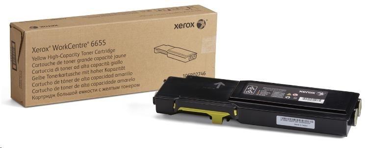 Xerox toner pro WorkCentre 6655 high capacity Yellow cartridge (7500str, yellow)