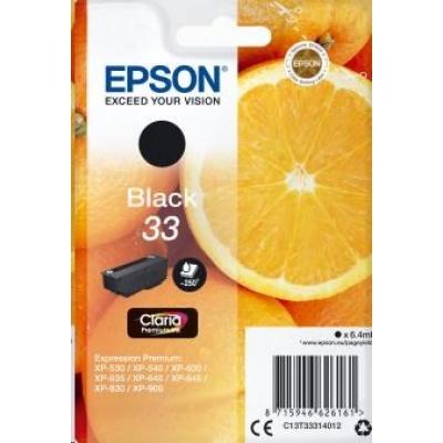 """EPSON ink čer Singlepack """"Pomeranč"""" Black 33 Claria Premium Ink"""