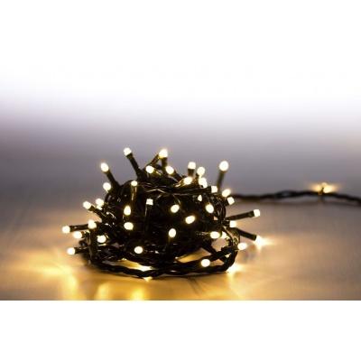 Marimex Řetěz světelný 100 LED 5 m - teplá bílá - zelený kabel