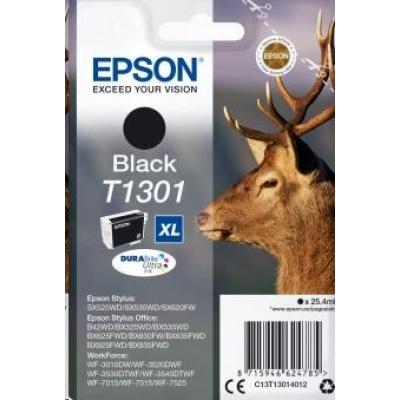 """EPSON ink čer Singlepack """"Jelen"""" Black T1301 DURABrite Ultra Ink (25,4 ml)"""