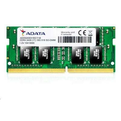 SODIMM DDR4 8GB 2400MHz CL17 ADATA Premier memory, 1024x8, Single