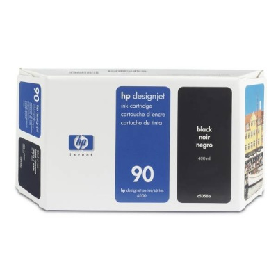 HP 90 Black DJ Ink Cart, 400 ml, C5058A