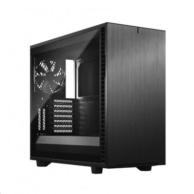 FRACTAL DESIGN skříň Define 7 Light Tempered Glass Midi Tower, černá, bez zdroje