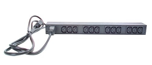 APC Rack PDU, Basic, 1U, 16A, 208&230V, (12)C13, IEC-320 C20 2.5m