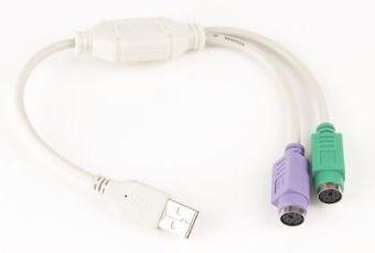 GEMBIRD Redukce USB / 2x PS/2 30cm (M/2xF, aktivní)
