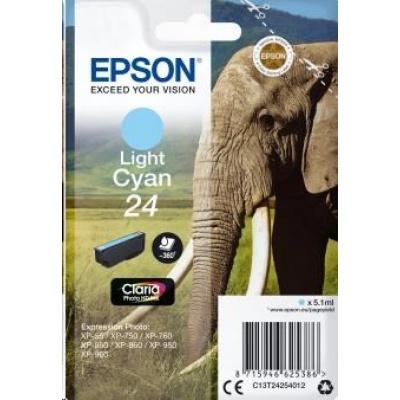 "EPSON ink bar Singlepack ""Slon"" Light Cyan 24 Claria Photo HD Ink"