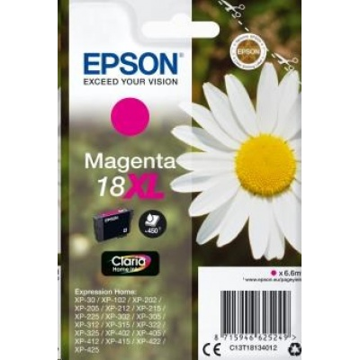 "EPSON ink bar Singlepack ""Sedmikráska"" Magenta 18XL Claria Home Ink"