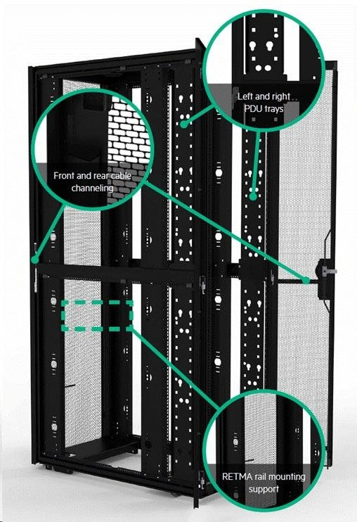 HPE 48U 800mmx1200mm G2 Enterprise Shock Network Rack